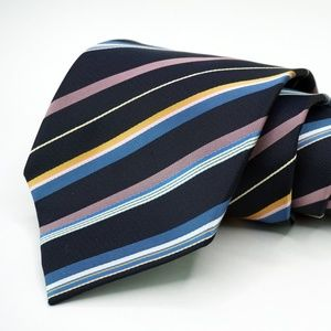 "Hugo Boss 100% Silk Neck Tie 3.5"" Width Blue"